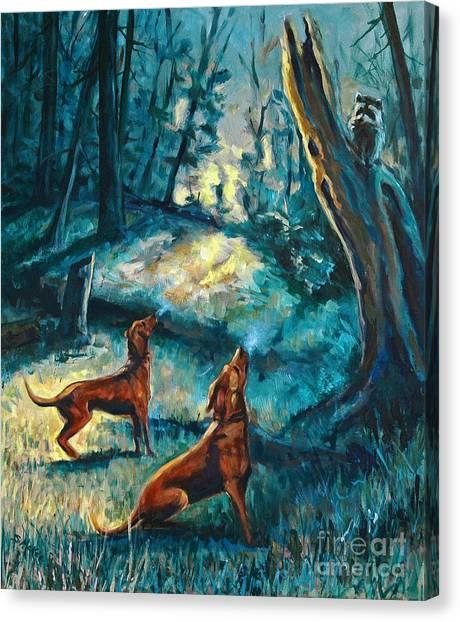 Treed At Dawn Canvas Print