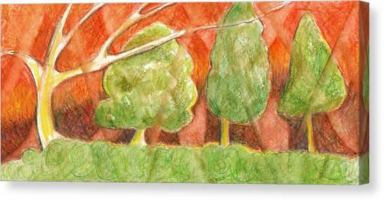 Trees In Light Canvas Print by Linda Kay Thomas