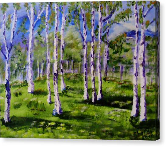 Trees In The Meadow Canvas Print