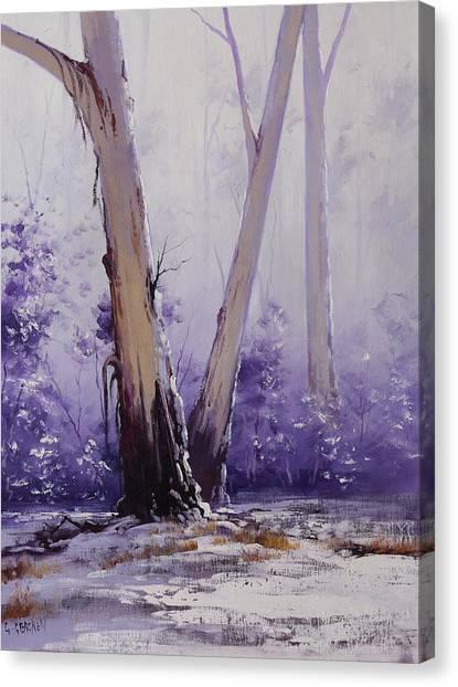 Frosty Canvas Print - trees in winter Australia by Graham Gercken