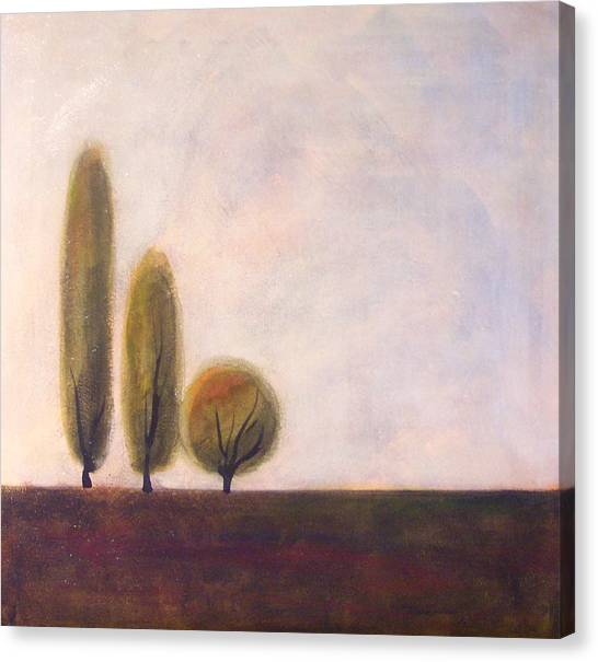 Trees Of Tuscany 2 Canvas Print by Victoria Heryet