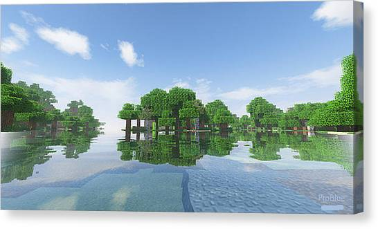 Minecraft Canvas Print - Trees by Pro Blue