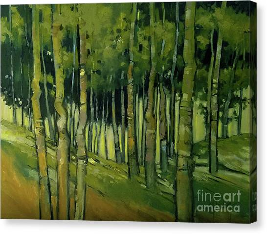 Treesong Summer Canvas Print