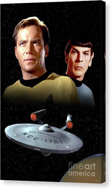 Spock Canvas Print - Trek 66 by Paul Tagliamonte