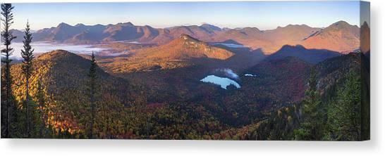 Tremont Autumn Morning Panorama Canvas Print