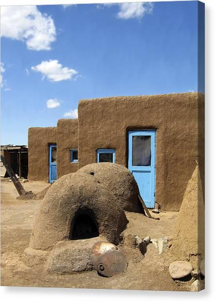 Tres Casitas Taos Pueblo Canvas Print