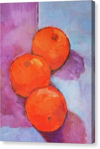 Tres Naranjas Canvas Print by Arte Costa Blanca