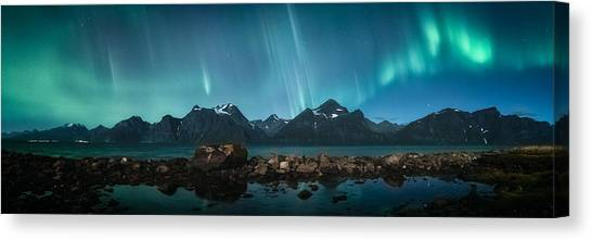 Aurora Borealis Canvas Print - Trespassing by Tor-Ivar Naess