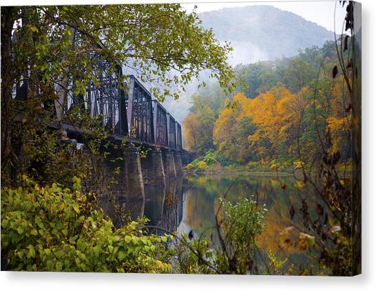 Trestle In Autumn Canvas Print