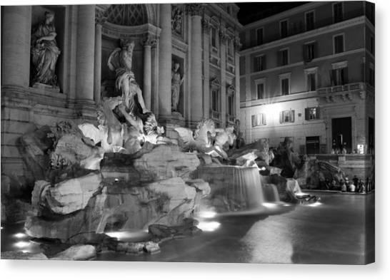 Trevi Fountain Night 2 Canvas Print