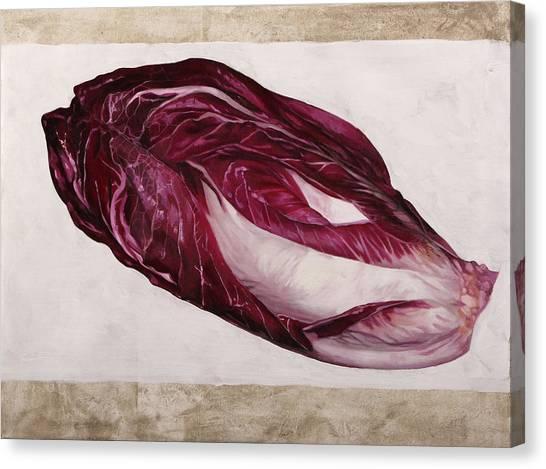 Salad Canvas Print - Trevigiana by Guido Borelli