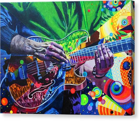 Shirt Canvas Print - Trey Anastasio 4 by Kevin J Cooper Artwork