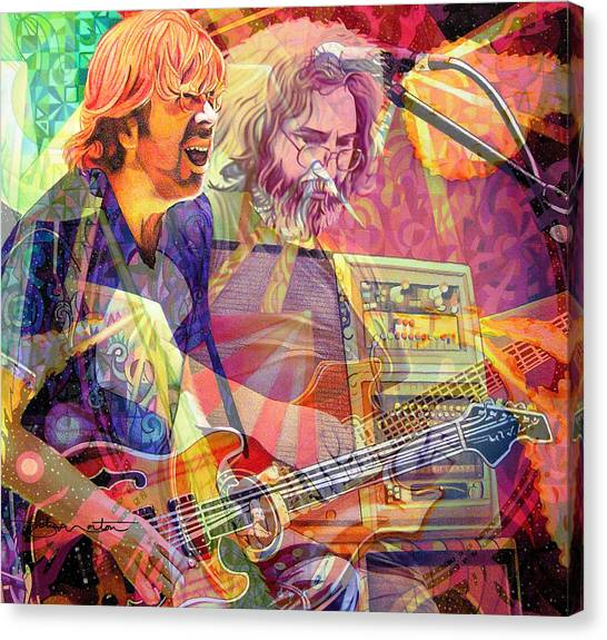 Trey Channeling Cosmic Jerry Canvas Print