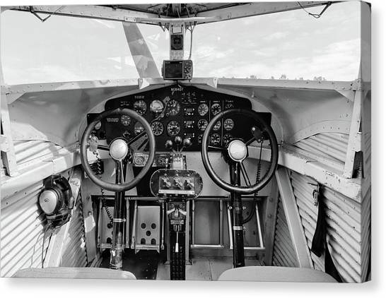 Tri-motor Cockpit - 2017 Christopher Buff, Www.aviationbuff.com Canvas Print