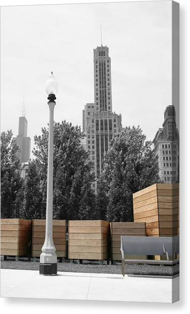 Canvas Print featuring the photograph Tri Towers by Dylan Punke