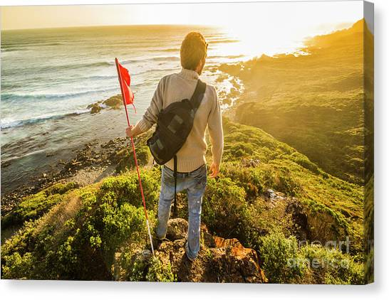 Mountain Climbing Canvas Print - Trials And Triumphs  by Jorgo Photography - Wall Art Gallery