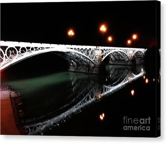 Triana Bridge Canvas Print