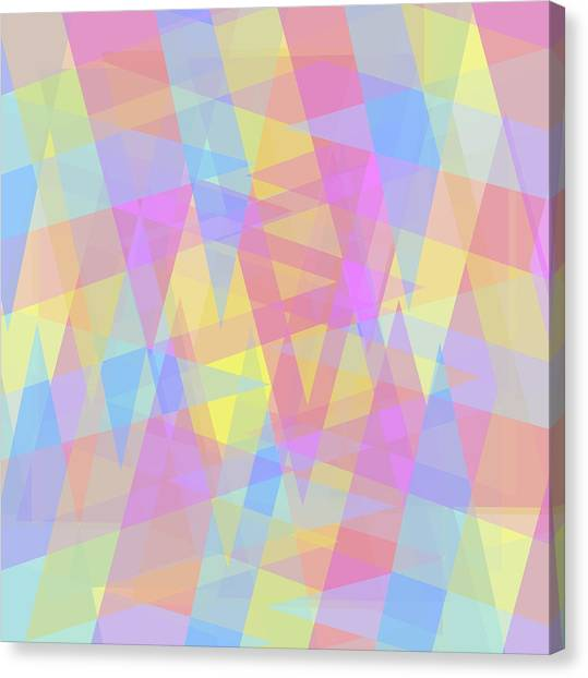 Triangle Jumble 2 Canvas Print