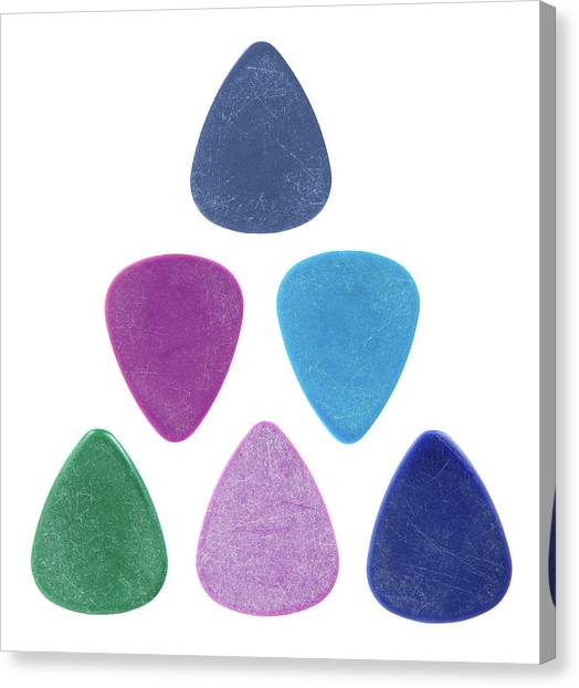 Guitar Picks Canvas Print - Triangle Made Of Guitar Picks by GoodMood Art