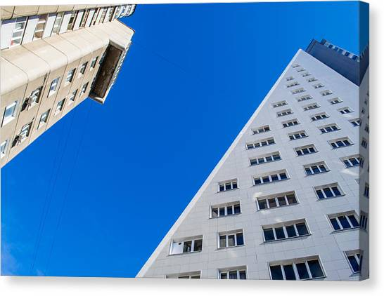 Triangle Modern Building Canvas Print