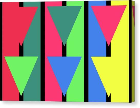 Triangle Stripe - Winter Canvas Print