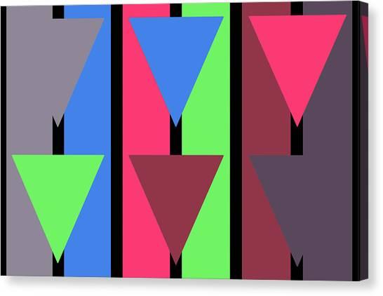Triangle Stripe- Zentao Canvas Print