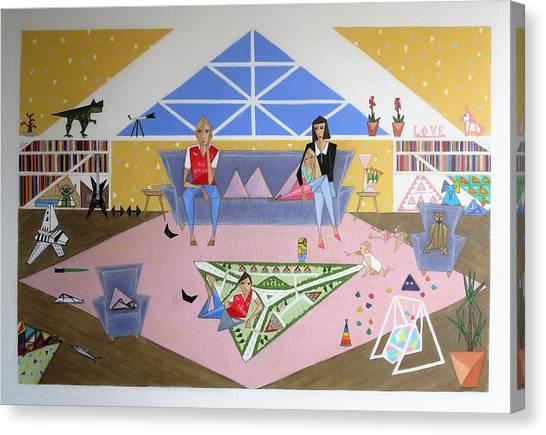Triangular Life. Family Canvas Print