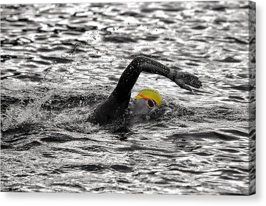 Triathlon Swimmer Canvas Print