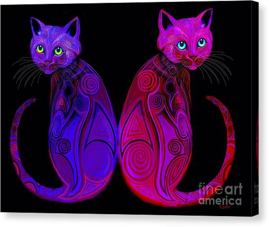 Canvas Print - Tribal Cats by Nick Gustafson
