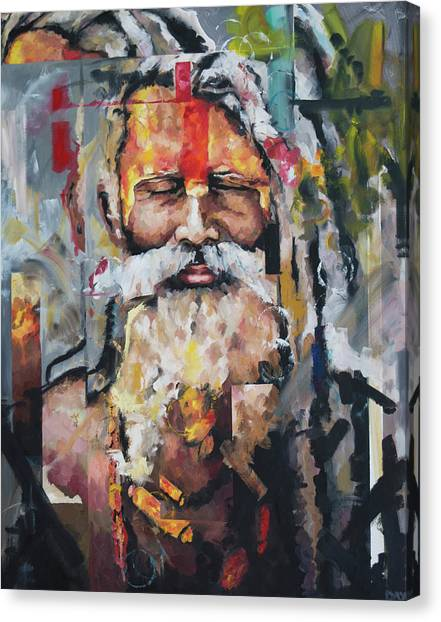 Yogi Canvas Print - Tribal Chief Sadhu by Richard Day