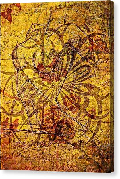 Tribal Flower Canvas Print