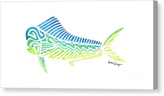 Tribal Mahi Mahi Canvas Print