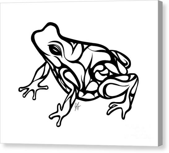 Frogs Canvas Print - Tribal Ribbet  by Jamie Lynn