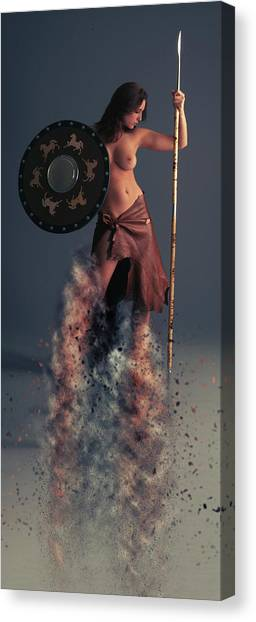 Ancient Art Canvas Print - Tribal Warrior by Smart Aviation