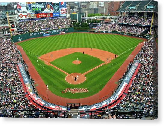 Cleveland Indians Canvas Print - Tribe Fever by Frozen in Time Fine Art Photography