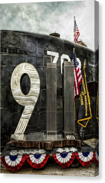 Firefighters Canvas Print - Tribute 911 by Peter Chilelli