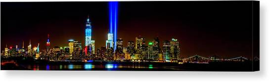 Tribute In Light From Bayonne Canvas Print