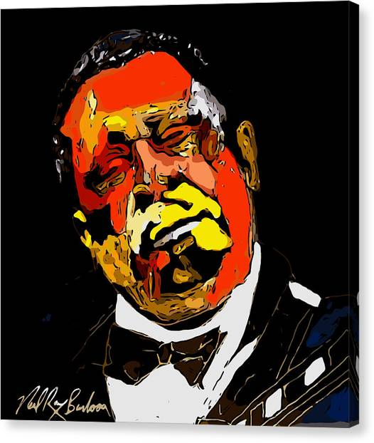 tribute to BB King reworked Canvas Print