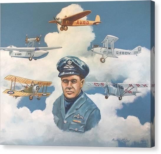 Tribute To Bert Hinkler Canvas Print