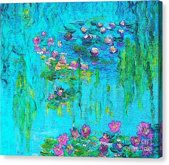 Tribute To Monet Canvas Print