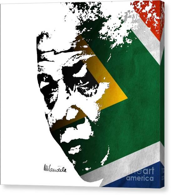 tribute to Nelson Mandela Canvas Print