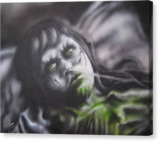 The Exorcist Canvas Print - Tribute To The Exorcist by Jonathan Anderson