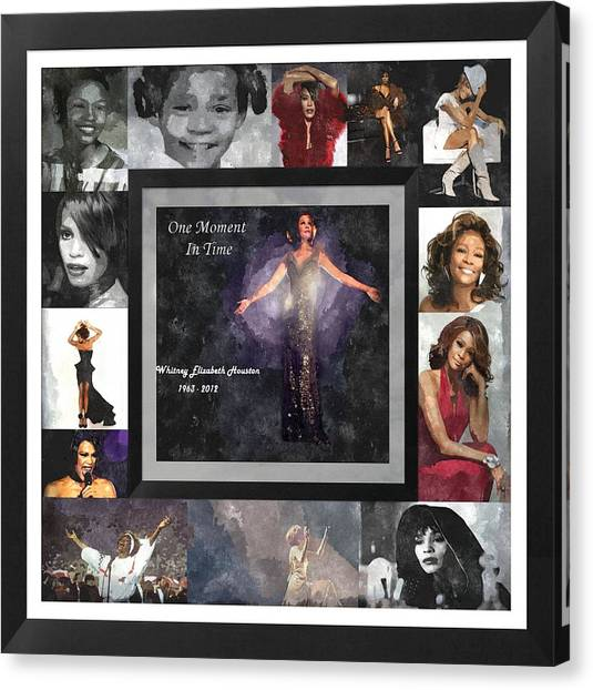 Tribute Whitney Houston One Moment In Time Canvas Print