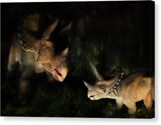 Triceratops Canvas Print - Triceratops by Lori Deiter