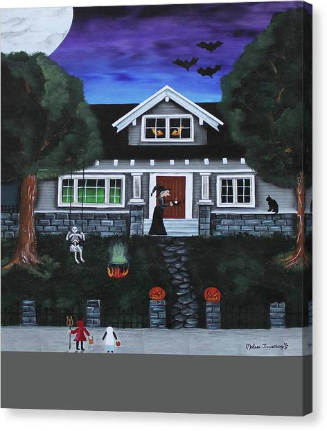 Trick-or-treat Canvas Print