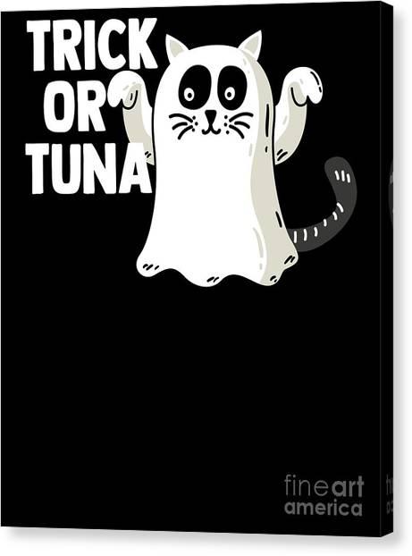 Canvas Print - Trick Or Tuna Halloween by Thomas Larch