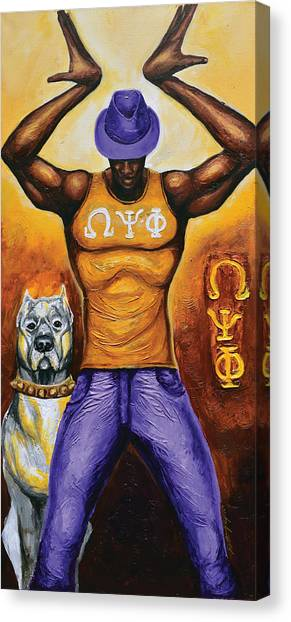 Omega Psi Phi Canvas Print - Tride And True Omeg Psi Phi by The Art of DionJa'Y