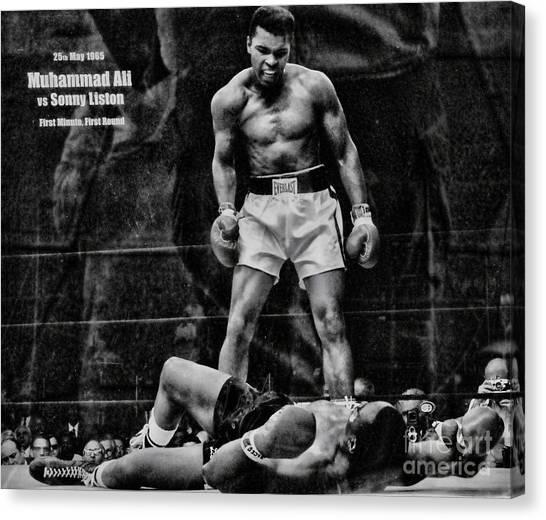Trinity Boxing Gym Ali Vs Liston  Canvas Print