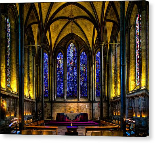 Trinity Chapel Salisbury Cathedral Canvas Print