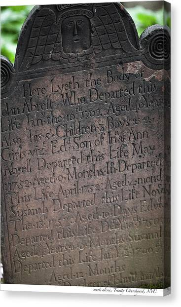 Trinity Tombstone Canvas Print